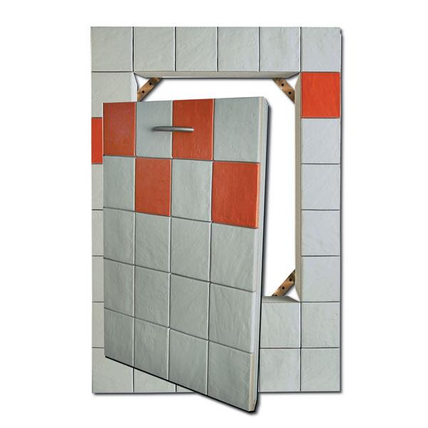 Sportello easy da parete art g1 ricoperto con mattonelle - Piastrelle su cartongesso ...